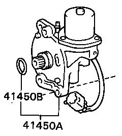 Genuine Lexus LX450 Actuator Differential Lock Shift No.2 41450-60060, 4145060060